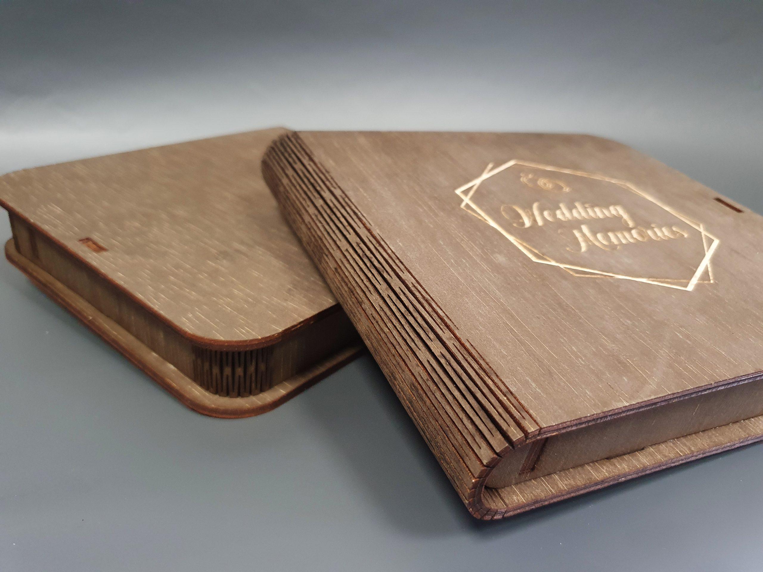cutie foto lemn